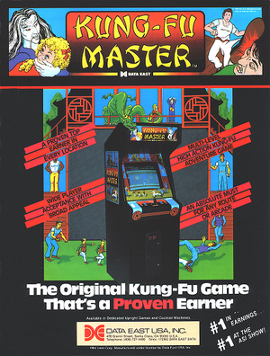 Arcade flyer of Kung-Fu Master.